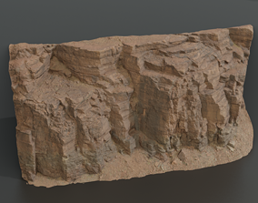 Rock cliff 3D