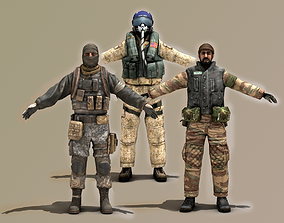 3D model Millitary Characters