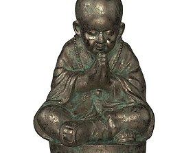 3D asset realtime Buddhist Monk Statue