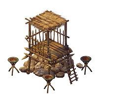 3D model Desert Gobi - Outpost 04