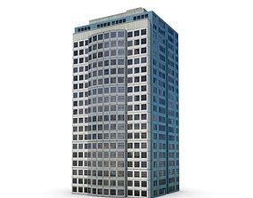 Tall Modern Office Building 3D model