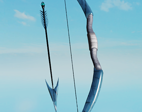 Frostbite Bow and Arrow 3D asset