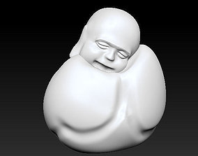 3D printable model To sleep sitting up Laughing Buddha