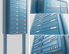 Apartment Block Mailbox 1 High-Poly 3D model