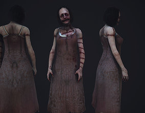 3D asset animated Super creepy female horror enemy AAA