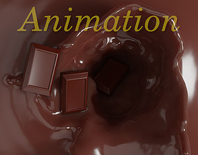 Chocolate animation 3D animated