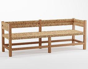Malibu Woven Bench 3D model