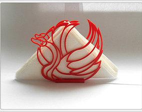 Stand for napkins Swan 3D printable model