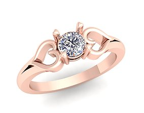 silver diomand ring 3d model