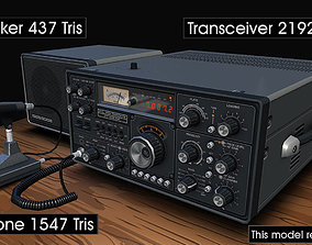 3D model Ham Radio Transceiver
