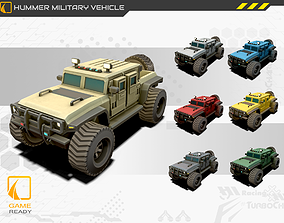 Hummer Military Vehicle Game model 3d Asset VR / AR ready