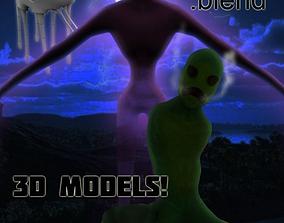 3D model Minecraft Real life ENDERMAN