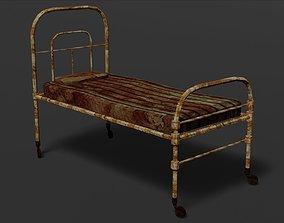 Terror old hospital bed 3D asset VR / AR ready