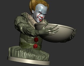Pennywise IT 2017 Halloween Candy Holder 3D Printable 1