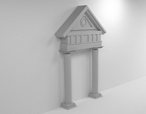 Roman Style Gate 3D model