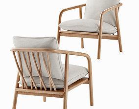 3D model Laurel Lounge Chair