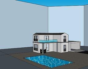 3D print model two-storey villa