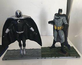 figurines Batman VS Moon Knight comics 3d print 20cm