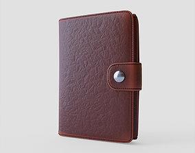 Leather wallet 3D asset