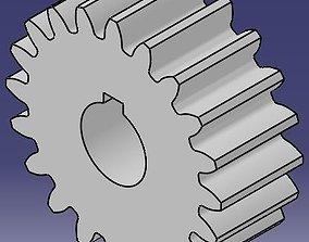 3D model Parametric spur gear