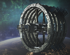 3D alien space station