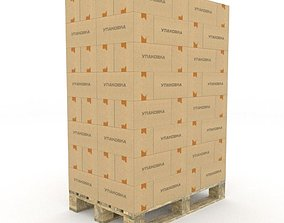 industrial 3D Packed Pallet
