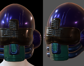 low-poly Gas mask helmet 4