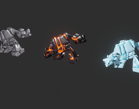 Game monsters collection 3D model