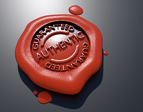 WAX GUARANTEE SEAL 3D model
