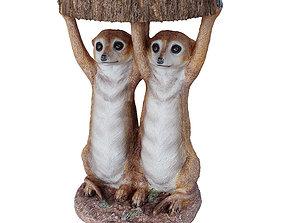 3D model Side Table Animal Meerkat Sisters