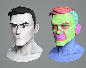 Male cartoon character base mesh 3D model