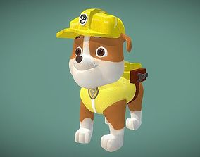 Rubble paw patrol 3D asset