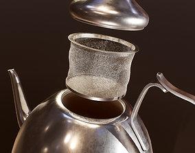 High Poly Teapot 3D model