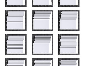 Architectural moldings - Baseboards-A 3 3D