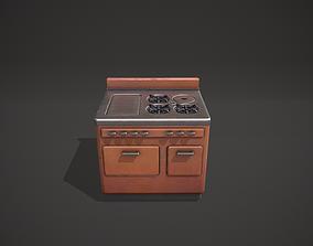 3D model Brown Vintage Stove