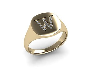 romance Jewelry Signature Ring 3D print model