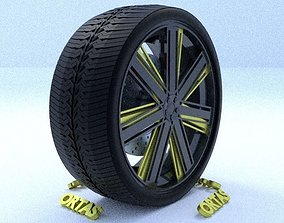 3D ORTAS CAR RIM 17 GAME READY RIM TIRE AND DISC