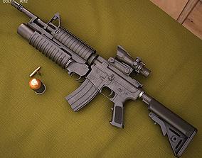 3D model Colt M4A1 with M203