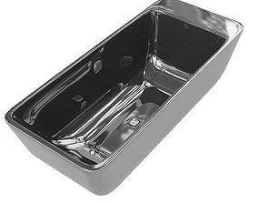 3D Bath Tub Metallic