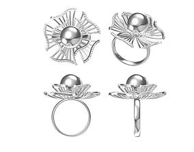 3D printable model Pearl Ring pearl