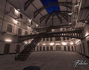 3D model Prison 01 night