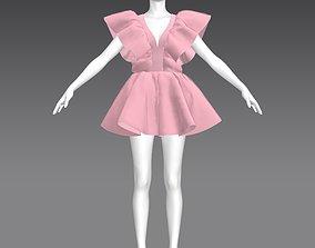 3D model Pretty ruffle dress