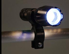 Flashlight clamp for bike 3D print model