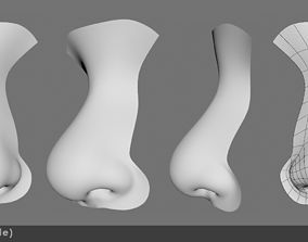 Nose female realistic 3D model