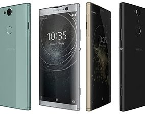 3D model Sony Xperia XA2 Plus All Colors