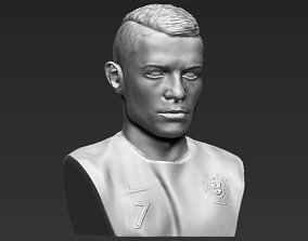 Cristiano Ronaldo bust 3D printing ready stl obj formats