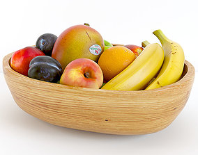 orange 3D model Fruit Bowl