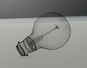 Vintage Edison light bulb 3D model