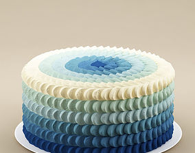 3D model Cake 26 Cake with waves