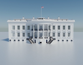 3D model The White House Washington